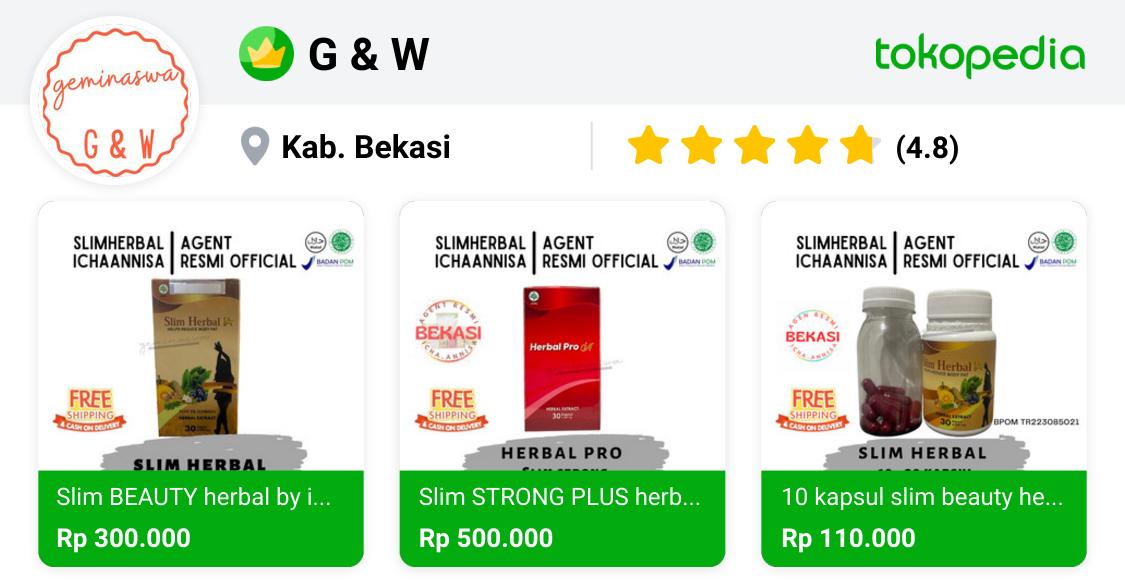 G & W Bekasi Utara, Kota Bekasi Tokopedia