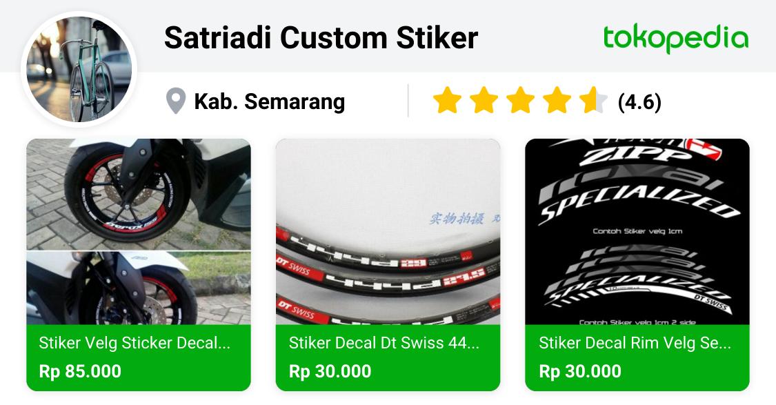 Satriadi Custom Stiker - Ungaran, Kab. Semarang | Tokopedia