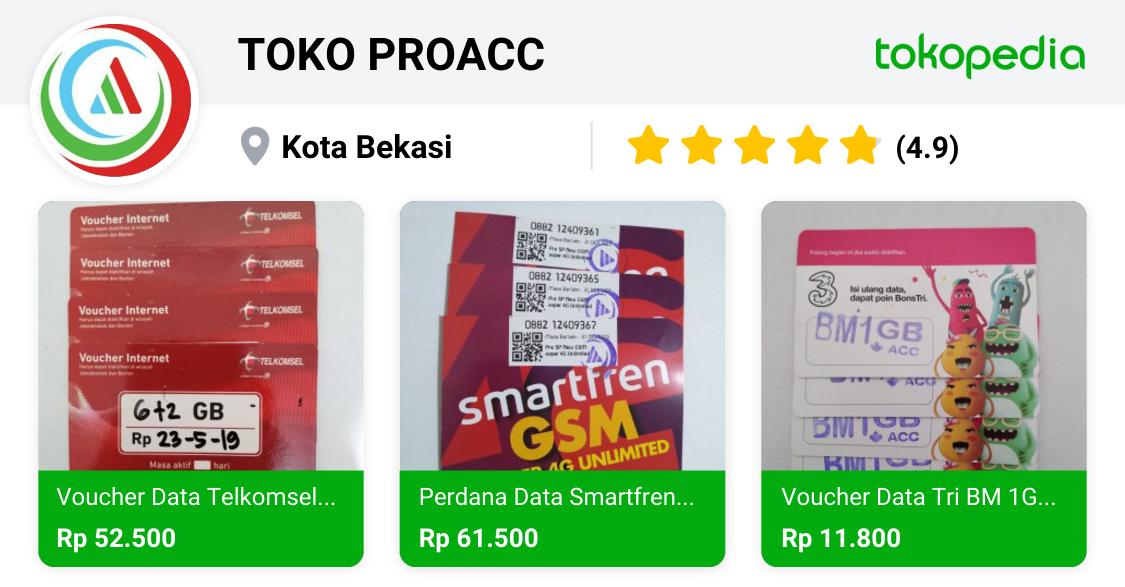 TOKO PROACC Medan Satria, Kota Bekasi Tokopedia