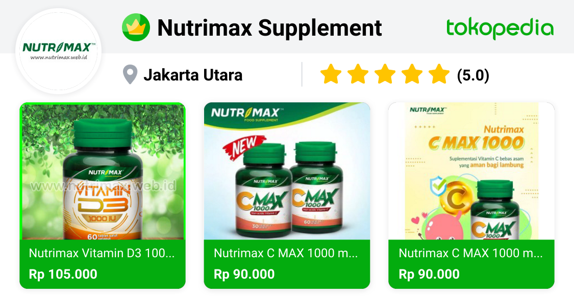 Nutrimax Supplement - Penjaringan, Kota Administrasi