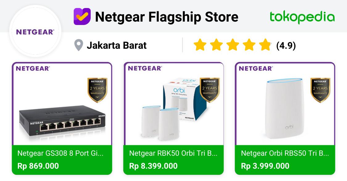 Toko Online Netgear Official - Terbaru & Terlengkap | Tokopedia