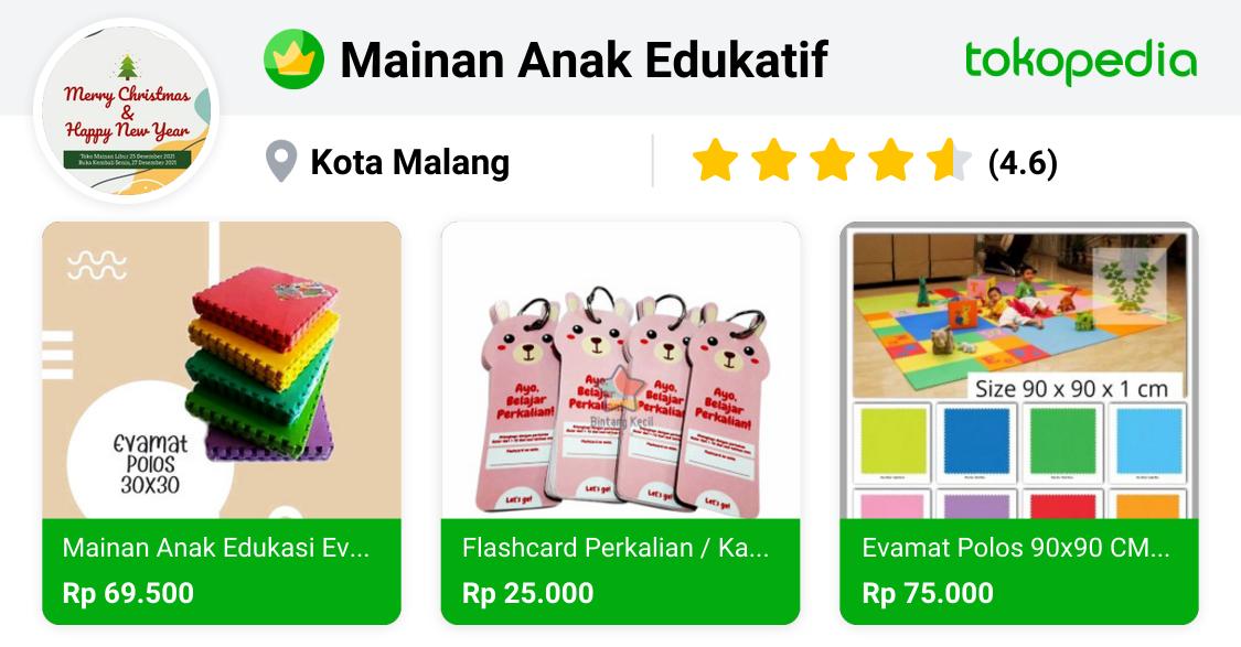 Mainan Anak Edukatif Klojen Kota Malang Tokopedia