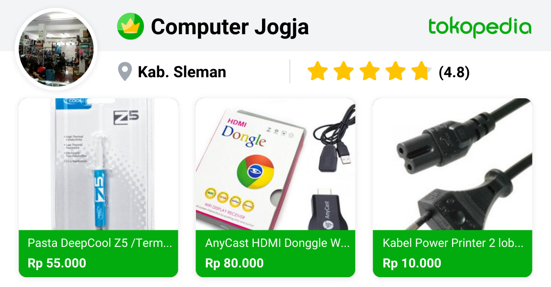 Computer Jogja Depok, Kab. Sleman Tokopedia