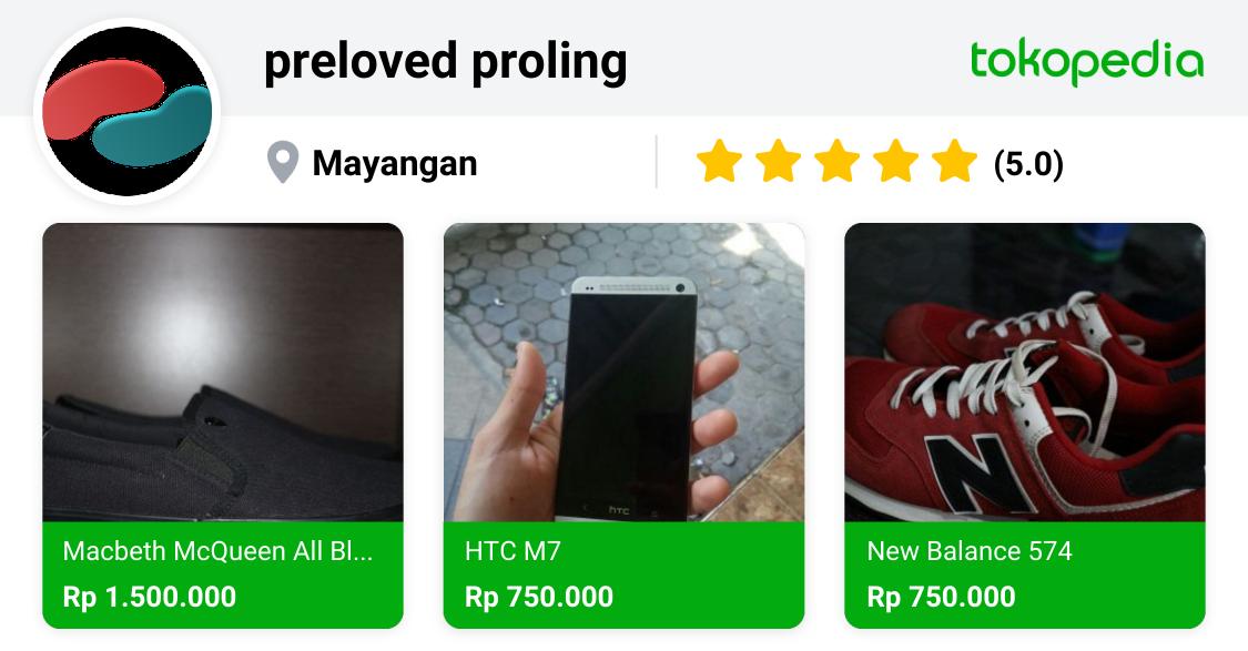 preloved proling Mayangan, Kota Probolinggo | Tokopedia