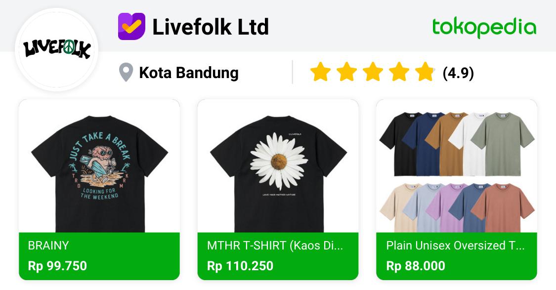 Livefolk Ltd - Coblong, Kota Bandung | Tokopedia