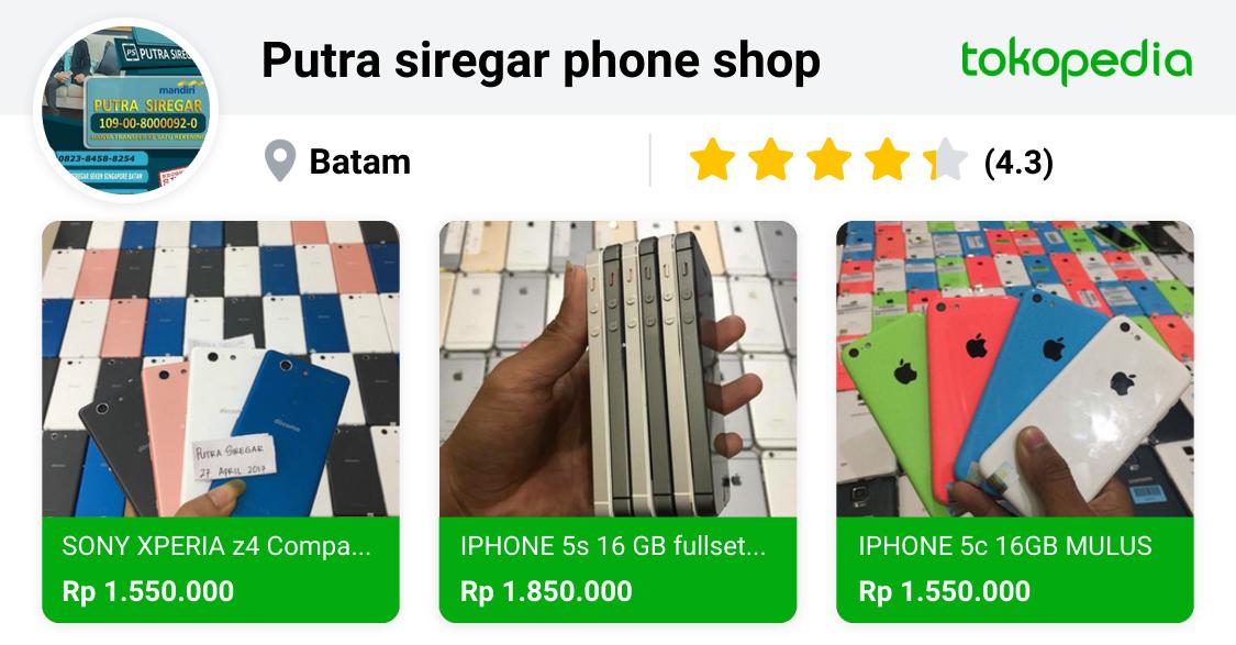 Putra Siregar Phone Shop Batam Kota Batam Tokopedia