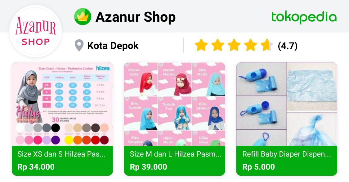 Azanur Shop Beji, Kota Depok Tokopedia