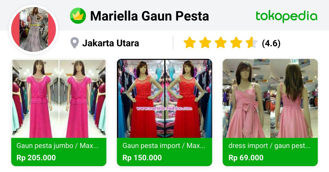 Mariella Gaun Pesta Pademangan Dki Jakarta Tokopedia